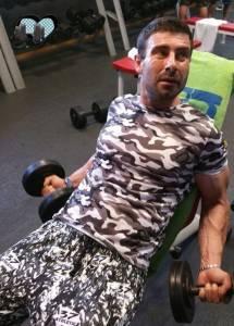 Mr Voin haciendo ejercicio